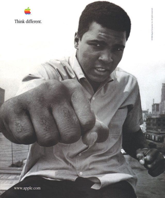 1998 Think Different Ad Featuring Muhammad Ali
