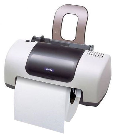 Office Toilet Paper Holder Idea