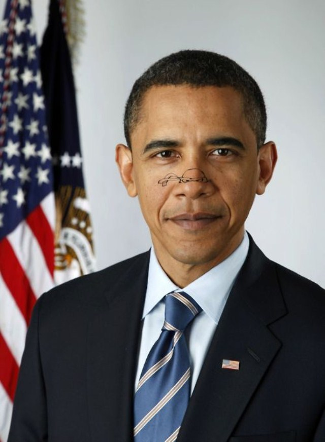 Barack Obama Turtle Nose