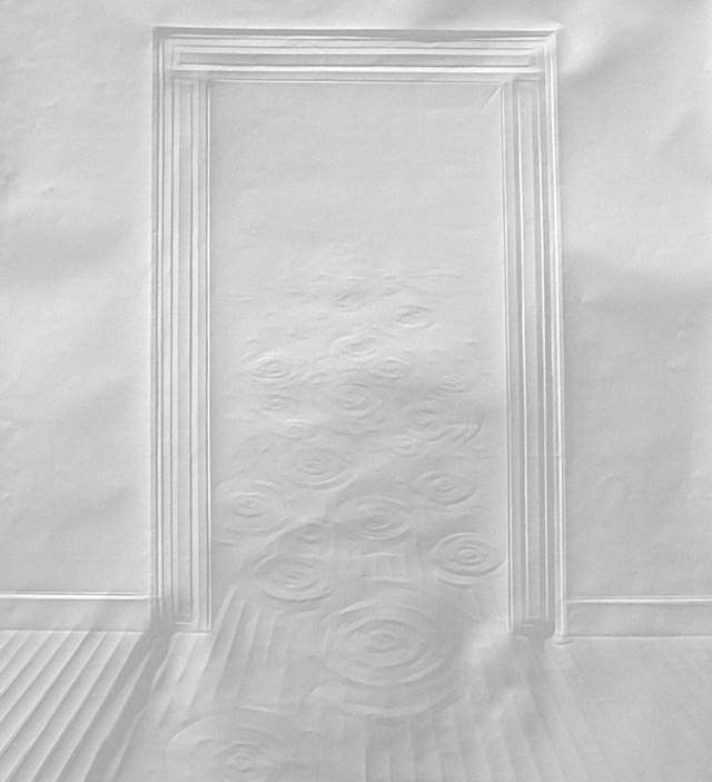 Simon Schubert Folded Paper Art Door